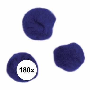 Hobby x knutsel pompons mm donkerblauw