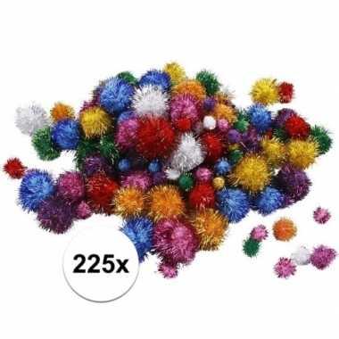 Hobby x knutsel pompons mm glitterkleuren