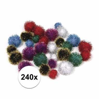Hobby x knutsel pompons mm metalic gekleurd