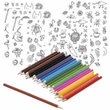 Hobby x knutsel stickervellen om te kleuren incl. potloden kids
