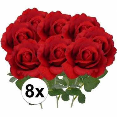 Hobby x kunstbloem roos carol rood