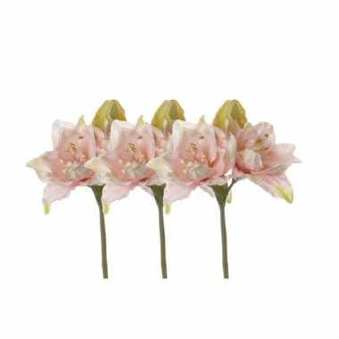 Hobby x kunstbloemen amaryllis roze