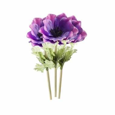 Hobby x kunstbloemen anemoon tak paars
