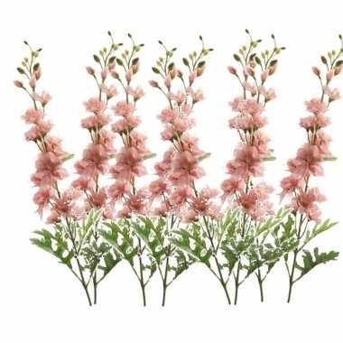 Hobby x kunstbloemen ridderspoor takken roze