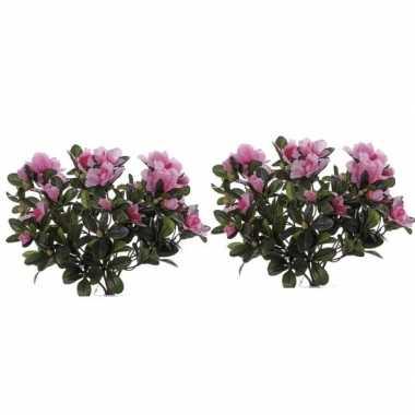 Hobby x kunstplanten azalea roze