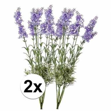 Hobby x licht paarse lavendel kunstbloemen