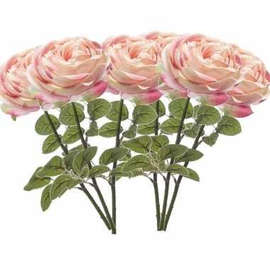 Hobby x lichtroze rozen kunstbloemen