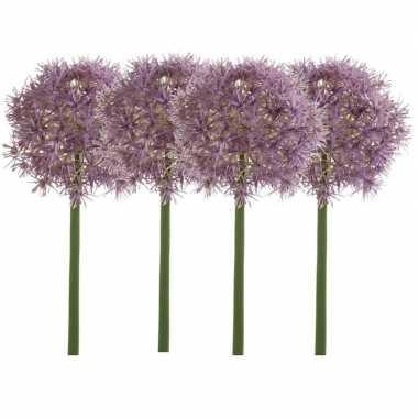 Hobby x lila paarse allium/sierui kunstbloemen