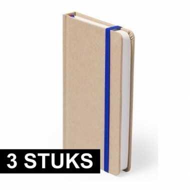 Hobby x luxe schriften blauw elastiek a formaat