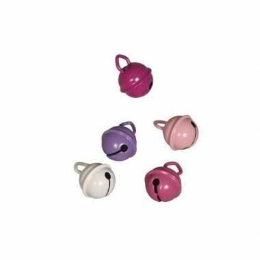 Hobby x metalen belletjes roze mix mm
