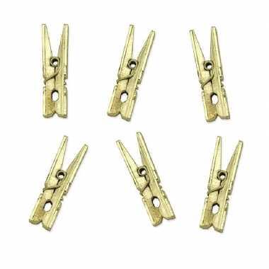 Hobby x metallic gouden mini knijpertjes decoratie materiaal