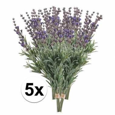 Hobby x paarse lavendel kunstbloemen