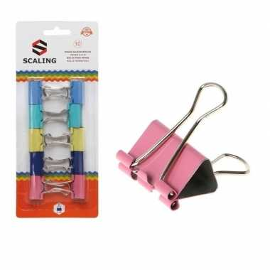Hobby x papier clips/houders gekleurd mm
