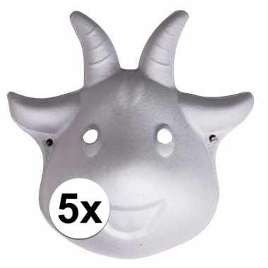 Hobby x papier mache geiten maskers