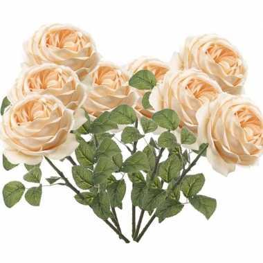 Hobby x perzik roze rozen kunstbloemen