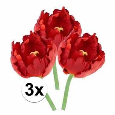 Hobby x rode tulp kunstbloemen