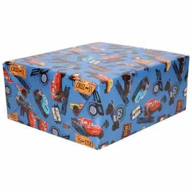 Hobby x rollen inpakpapier/cadeaupapier disney cars xrs blauw x
