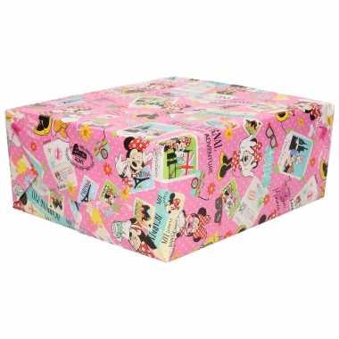 Hobby x rollen inpakpapier/cadeaupapier disney minnie mouse/katrien duck x