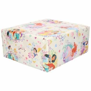 Hobby x rollen inpakpapier/cadeaupapier disney prinsessen roze x