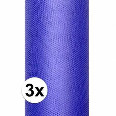 Hobby x rollen tule stof blauw , meter