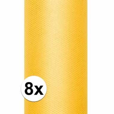 Hobby x rollen tule stof geel , meter