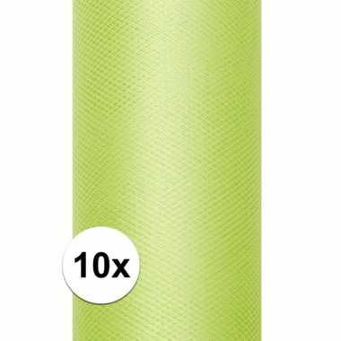 Hobby x rollen tule stof licht groen , meter