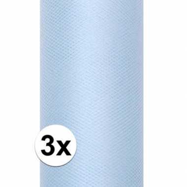 Hobby x rollen tule stof lichtblauw , meter