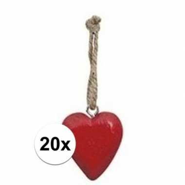 Hobby x rood hartje aan touwtje