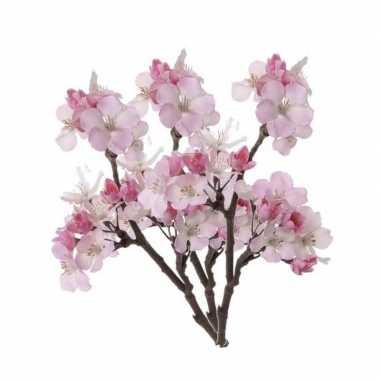 Hobby x roze kunstbloemen appelbloesem tak