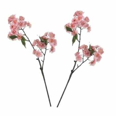 Hobby x roze prunus serrulata/kersenbloesems kunsttakken