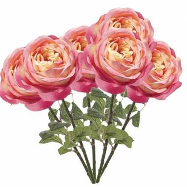 Hobby x roze rozen kunstbloemen