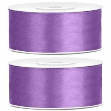 Hobby x satijn sierlint rollen lila paars mm