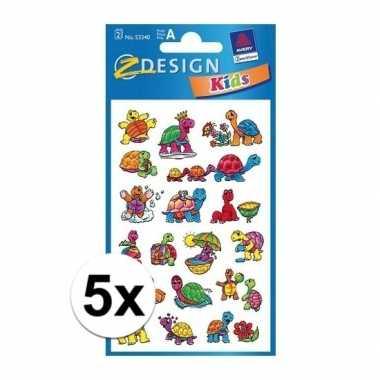 Hobby x schildpad stickers vellen