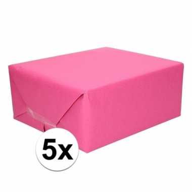 Hobby x schoolboeken kaftpapier fuchsia roze rollen