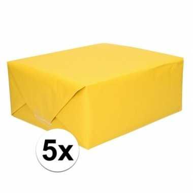 Hobby x schoolboeken kaftpapier geel rollen