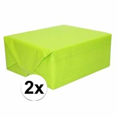 Hobby x schoolboeken kaftpapier lime groen rollen