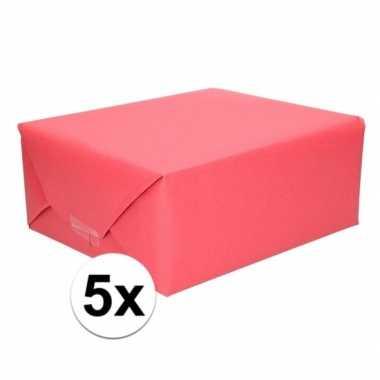 Hobby x schoolboeken kaftpapier rood rollen