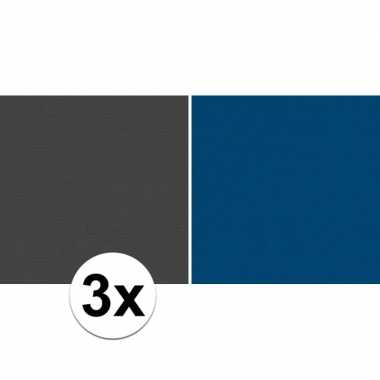 Hobby x schoolboeken kaftpapier zwart blauw rollen