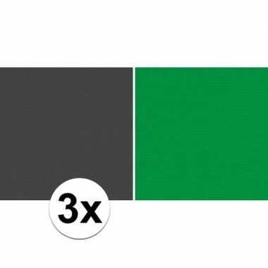 Hobby x schoolboeken kaftpapier zwart groen rollen