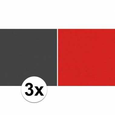 Hobby x schoolboeken kaftpapier zwart rood rollen