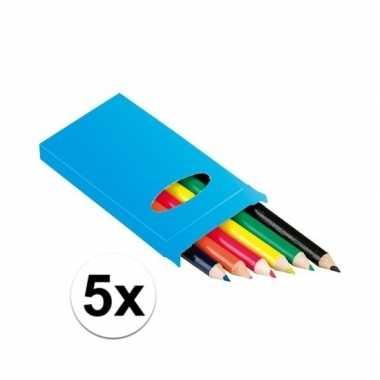 Hobby x setje potloden stuks gekleurd