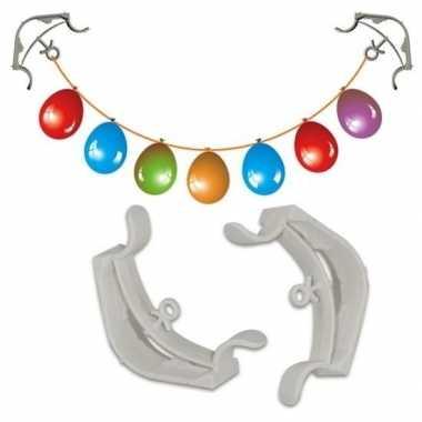 Hobby x slingers/decoratie ophangen hoekklemmen wit
