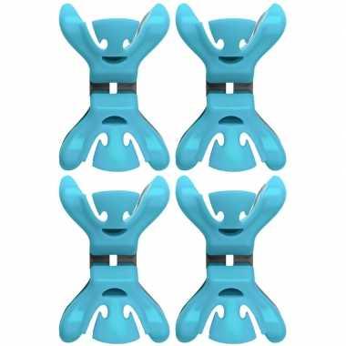 Hobby x slingers/decoratie ophangen slingerklemmen blauw