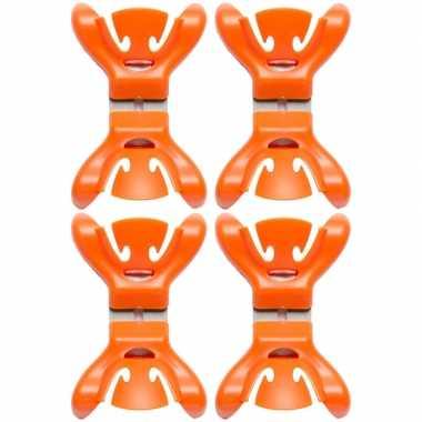 Hobby x slingers/decoratie ophangen slingerklemmen oranje