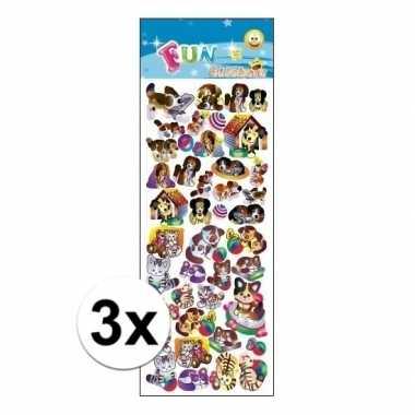 Hobby x stickervel animatie honden katten