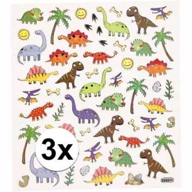 Hobby x stickervel dinosaurussen metallic