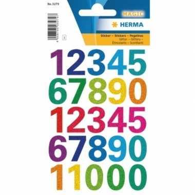 Hobby x stickervellen cijfers gekleurd