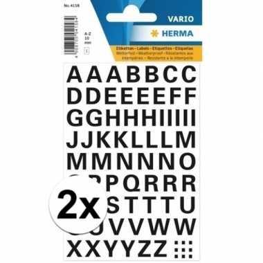 Hobby x stickervellen letters zwart mm x