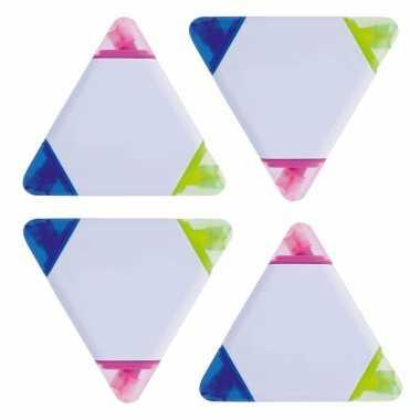 Hobby x stuks driehoek highlighter markeerstiften