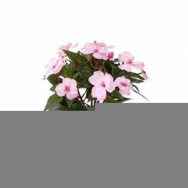 Hobby x stuks kunstplanten roze bloemen vlijtig liesje pot